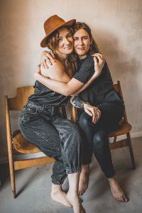 Tatjana und Lisa beim femitale-Shooting.