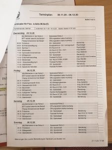 Therapieplan der Reha-Klinik Bad Schmiedeberg